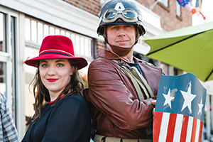 Captain America at Remembering WWII!