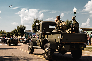 Veterans Parade at Remembering WWII!